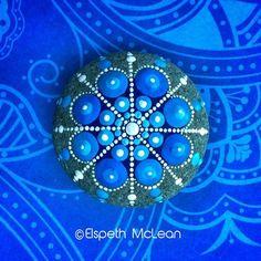 Snowflake Mandala Stone by Elspeth McLean