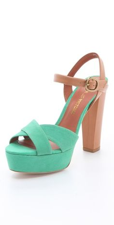 """Neysa' Two Tone sandals from Pour La Victoire"