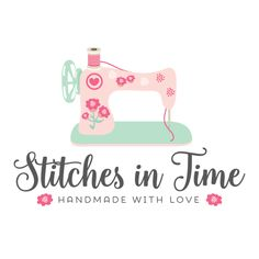 Premade Logo - Sewing Machine Premade Logo Design - Customized with Your Business Name!