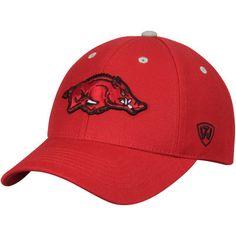 e9529e0975e06 Arkansas Razorbacks Top of the World Triple Threat Adjustable Hat - Cardinal