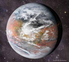 Orbital iamge of a terraformed Mars