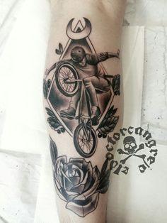 BMX bike tattoo #tattoo #BMX #BIKE