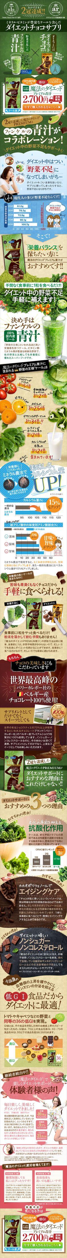 [青山すこやか本舗] 「とりあえずチョコ!」のテレビCMでお馴染みの低GIダイエットチョコサプリ「魔法のダイエット」。