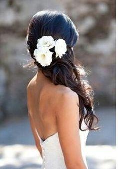 Hair for the civil wedding