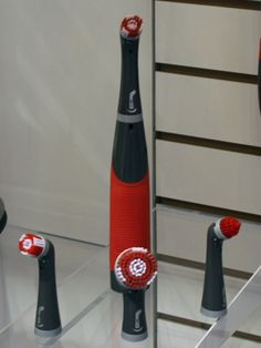 Put away the toothbrush! The Rubbermaid Reveal Power Scrubber ($14.99 for brush) will help you put some power behind your scouring. #ihhs13 #rubbermaid #cleaningtools