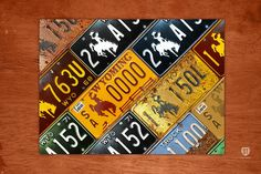 Wyoming State License Plate Map