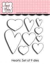 Heart Die Set - Sweet 'n Sassy Stamps My Scrapbook, Scrapbooking, Clear Stamps, Cardmaking, My Heart, Paper Crafts, Crafty, Sweet, How To Make