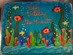 Creative Cake, Under Water Cake, Under The Sea Cake, Ocean Cake, Fish Cake, Alexis Snell Original