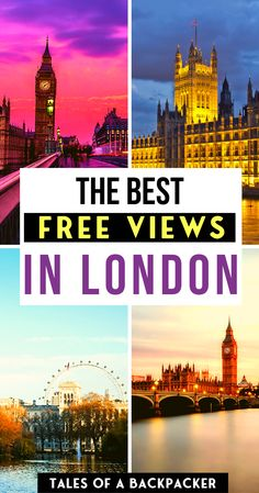 The 7 Best FREE Views in London! But if youre looking to take in one of the best free views of London check out this list. Where to get some spectacular views of London without spending anything. Cool Places To Visit, Places To Travel, Travel Destinations, London Travel, Prague Travel, Travel Uk, Ireland Travel, Travel Packing, Asia Travel