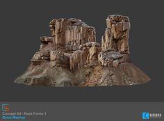 ArtStation - 2D - Concept Kit - Rock Forms 1 - Mashup, Justin Owens