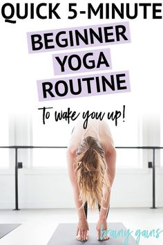 Are you looking to incorporate yoga into your morning routine? Add this fun little 5-minute beginner yoga routine into your mix and you'll wish you took up yoga years ago.