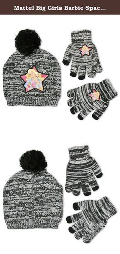 c320b0ad1a3fa Kids Pink Soft Mitten Gloves. Mattel Big Girls Barbie Space Dye Acrylic Knit  Winter Beanie Hat with Tonal Knit Pom and