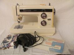 Sears Kenmore Convertible 14 Stitch Sewing Machine 17812 w/Pedal,Manual ~ Tested #Kenmore