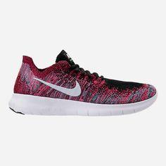 Nike Free Rn Flyknit 2017 Womens Running Shoe Black Racer Pink Gamma Blue White 880844006 TopDeals