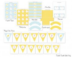 Free gingham Easter Party Printables by Twinkle Twinkle Little Party