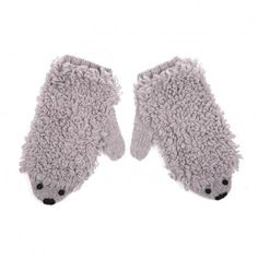 Animal Mittens Grey Emile et Ida