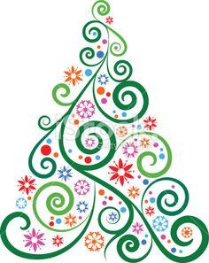 Christmas tree Royalty Free Stock Vector Art Illustration >700