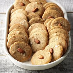 """Almond Icebox Cookies Recipe -""""With a roll of this cookie dough on hand, I can serve freshly-baked cookies in a snap,"""" says field editor Elizabeth Montgomery of Allston, MA"""