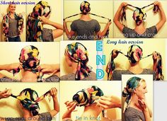 how to tie a turban scarf Scarf Hairstyles, Pretty Hairstyles, Tie A Turban, Turban Style, Hair Turban, Hair Wrap Scarf, Hair Scarfs, Curly Hair Styles, Natural Hair Styles