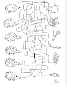 Herbst-Labyrinth – Artikulation – Rebel Without Applause Preschool Worksheets, Preschool Activities, Diy For Kids, Crafts For Kids, Activity Sheets, Coloring Pages For Kids, Pre School, Maze, Special Education