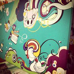 Domido y claqueta Mural Logistique
