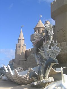 Mermaid Sand Sculptures | Mermaid and shell sand sculpture | Flickr - Photo Sharing!