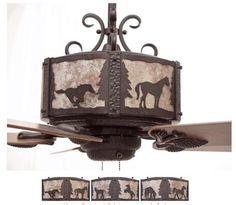 Western Ceiling Fans With Lights Fan Model Kv52wtr Short