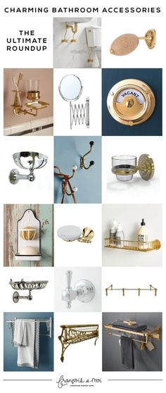 Add instant charm to your loo with this ultimate round-up of vintage-inspired bathroom accessories. Each is a pièce de résistance all on its own! Eclectic Bathroom, Modern Bathroom, Painting Bathroom Tiles, Natural Bathroom, Floor Patterns, Bath Design, Bathroom Inspiration, Home Renovation, Bathroom Accessories