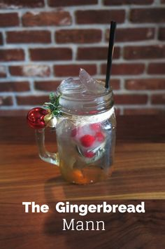 The Gingerbread Mann is made with cranberry rosemary ice cubes