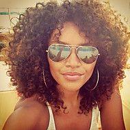 Vrouw+Braziliaans+Echt+haar+Kanten+Voorkant+Lijmloos+met+kanten+voorkant+130%+Dichtheid+Met+babystrengen+Kinky+Curly+Pruik+Pik+zwart+–+EUR+€+110.21