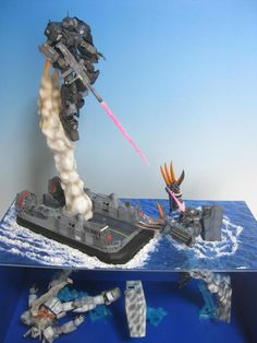 Air transit - 2 level water diorama : impressive !