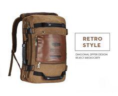 KAUKKO FS261 Men's Multi-pocket Backpacks (Khaki)