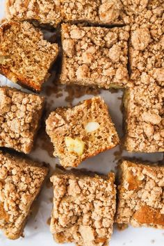 Check out this apple cinnamon crumble cake recipe. A perfect, simple but mouth-watering treat where apples take centre stage! #apple #fallDesserts