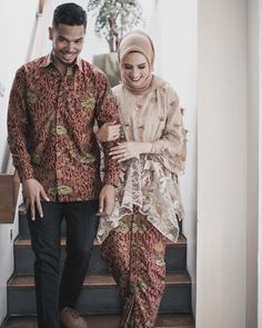 12 Inspirasi Manis Kebaya Couple buat Tunangan, Serasi Memesona Kebaya Muslim, Kebaya Modern Hijab, Kebaya Hijab, Kebaya Lace, Batik Kebaya, Kebaya Dress, Batik Dress, Dress Brokat, Kebaya Brokat