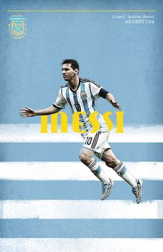 World Cup 2014 by Cristina Martinez, via Behance God Of Football, Football Is Life, Football Design, Lionel Messi, Soccer Art, Soccer Poster, Fifa, Soccer World, World Cup 2014