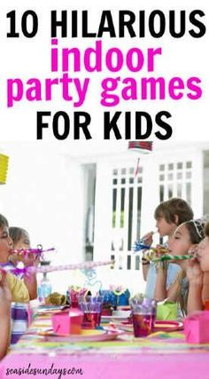 10 Classic Birthday Party Games Your Kids Must Play! Hilarious games for an indoor birthday party! Kids will love playing these classic party games! Kids Party Games Indoor, Birthday Party Games Indoor, Childrens Party Games, Easy Party Games, Birthday Activities, Toddler Party Games, Slumber Party Activities, Home Party Games, Preschool Birthday