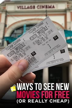 16 Ways to See New Movies for Free (or Really Cheap) - Who else hates for paying for movies? Well here's how you can save BIG. Grab the kids and enjoy your favorite movie in theater! Kelsey Grammer, Birthday Freebies, I Don T Love, Planning Budget, See Movie, Movie Theater, Ways To Save, Money Saving Tips, Family Life