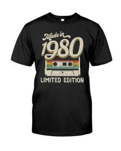 1980 41st Birthday, Birthday Gift For Him, Birthday Crafts, Mom Birthday, Vintage Birthday, Vintage Shirts, Cool Tees, Birthday Shirts, Classic T Shirts