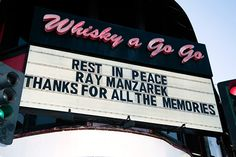 Ray Manzarek: Legendary rock club Whisky a Go Go honors Ray Manzarek
