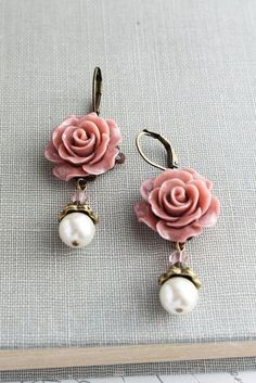 Fashion 3D Camellia Fleur Rose Oreille Clous D/'oreilles Bijoux Mariage Mariée