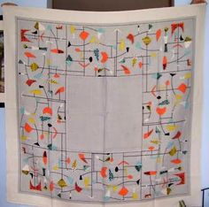 Please tell me I am not crazy for spending as much as I just did for this x vintage Calder-inspired tablecloth? *gulp* Who was Ca. 1950s Design, Retro Design, Vintage Tablecloths, Linen Tablecloth, Atomic Decor, Mid Century Design, Decoration, Print Patterns, Modern