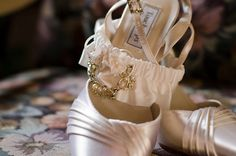 Shoes and Vintage Family Heirloom Garter