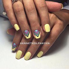 Beautiful summer nails, Bright summer nails, Drawings on nails, Ethnic nails…