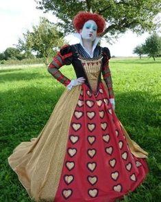 rote königin alice im wunderland fasching kostüm - queen of hearts