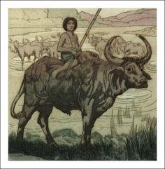 Le Livre de la jungle.  Éditions du Sagittaire, 1924. Avec des eaux-fortes de Maurice de Becque.