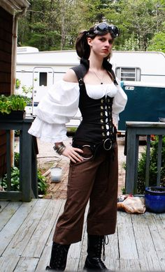 SteamPunk Outfit by UnknownAndInsane29 - steampunk girl, steampunk wear, steampunk clothes, googles - Steampunk pictures