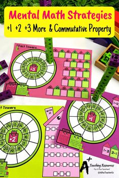 Try these hands on addition activities if you need to build fluency or develop addition and subtraction strategies with your kids. There's so many ideas for Kindergarten, grade 1 and more. Fun games, worksheets and ideas to make teaching 7 learning the properties of addition & subtraction a breeze. Visit our website for printables! #teachingmath #teaching Mental Math Strategies, Subtraction Strategies, Properties Of Addition, Addition Activities, Addition And Subtraction, Teaching Math, Fun Games, Kindergarten, Cool Games
