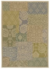 """This area Rug in the HGTV HOME Flooring by Shaw collection in style """"Bazaar"""" color Lt. Multi - features soft muted tones in a fashionable patchwork design - a great backdrop for your eclectic bohemian room."""