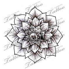 Marketplace Tattoo Asian Lotus/Mandala #12077 | CreateMyTattoo.com
