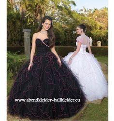 Imperial Abendkleid Ballkleid Brautkleid in Schwarz